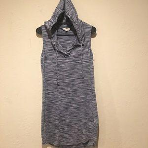 Synergy Hooded Sleeveless Dress sz M organic